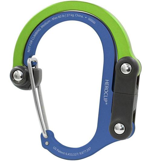 Heroclip Adjustable Swivel Carabiner Clip + Hanger (Size: Medium / Go Seattle)
