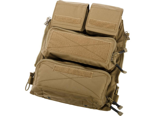 Crye Precision Licensed Replica Zip-on Pouch Panel 2.0 by ZShot (Color: Coyote Brown / Medium)