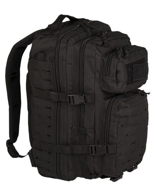 Mil-Tec Black Large Laser Cut Assault Pack