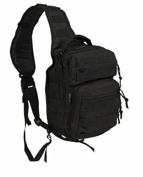 Mil-Tec Black Single-Strap Small Assault Pack