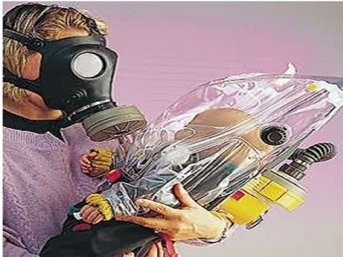 Israeli G.I. Gas Mask Hood For Infants