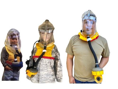 Israeli Youth Gas Mask Upgraded Hood