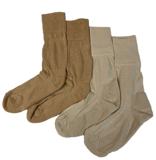 Belgium Khaki Socks W/Cushion Sole