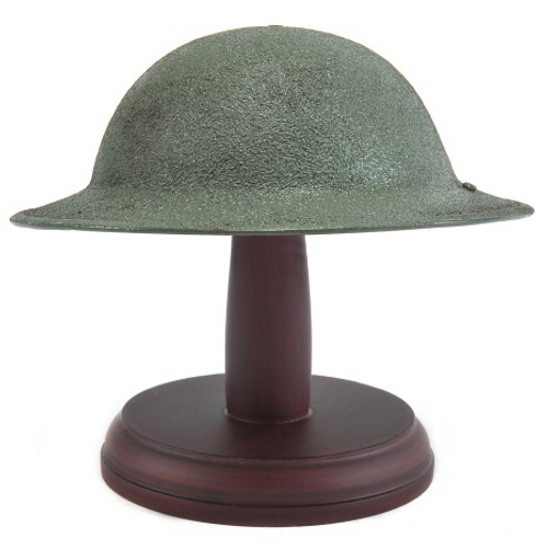 Desktop US M1917 Brodie Helmet Doughboy Helmet with stand