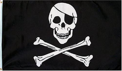 Jolly Roger  Flag 3' x 5'