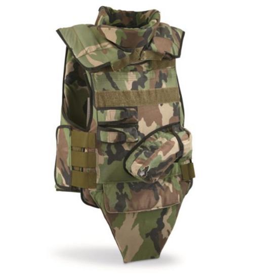 Czech M2002 Camo Kevlar Vest W/2 Plates 7 Bag