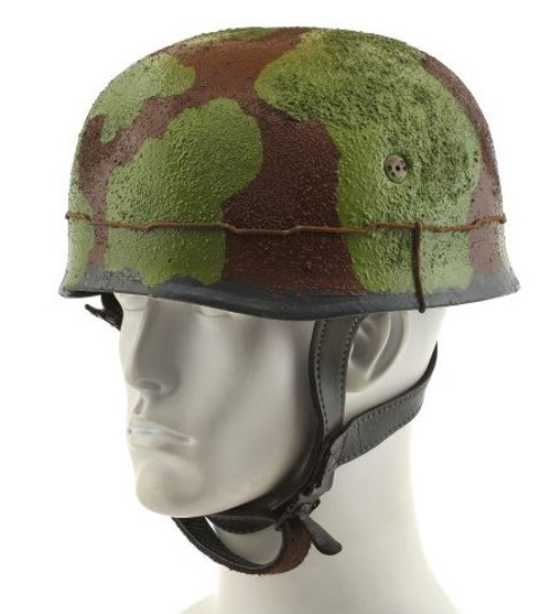 GERMAN WW2 PARATROOPER M38 FALLSCHIRMJAGER HELMET Green Brown Camouflage with texture wire