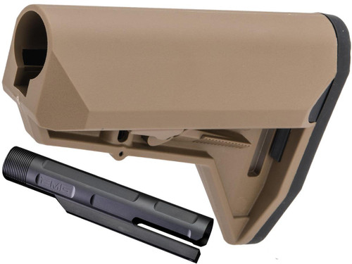 "EMG ""ALPHA"" Combat Ready Retractable Stock for M4 Series Airsoft Rifles (Color: Desert Earth Stock + EMG Buffer Tube)"