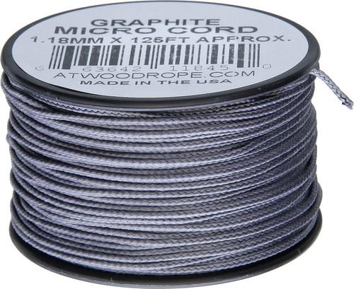 Micro Cord 125ft Graphite