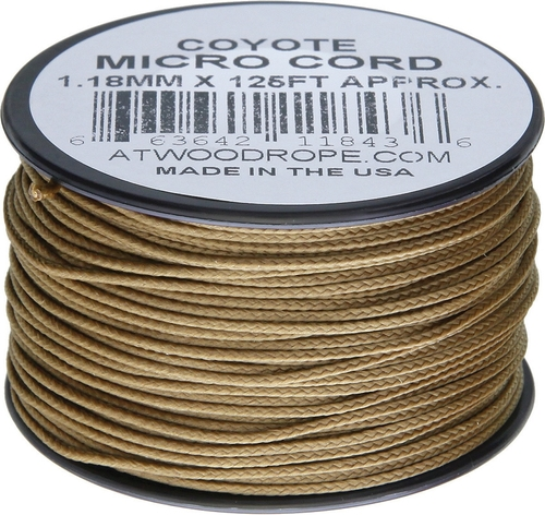 Micro Cord 125ft Coyote