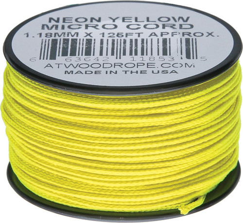 Micro Cord 125ft Neon Yellow