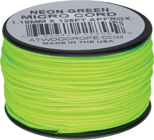Micro Cord 125ft Neon Green