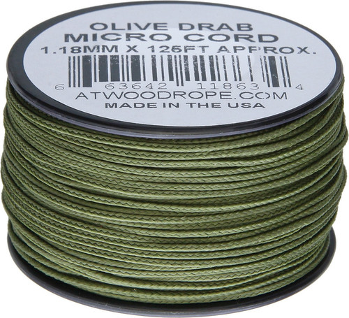 Micro Cord 125ft Olive Drab