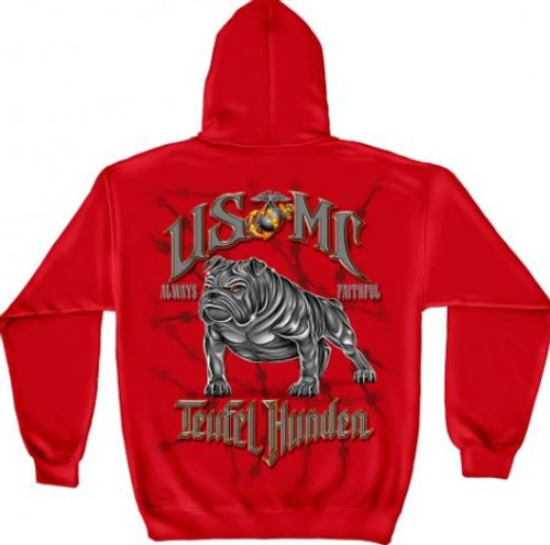"USMC ""Teufel Hunden"" Hooded Sweat Shirt"