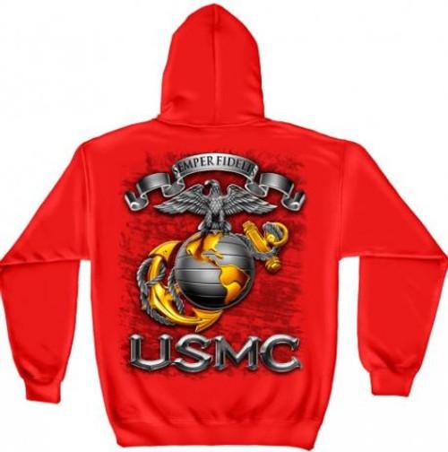 "USMC ""Semper Fidelis"" Hooded Sweat Shirt"