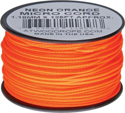 Micro Cord 125ft Neon Orange
