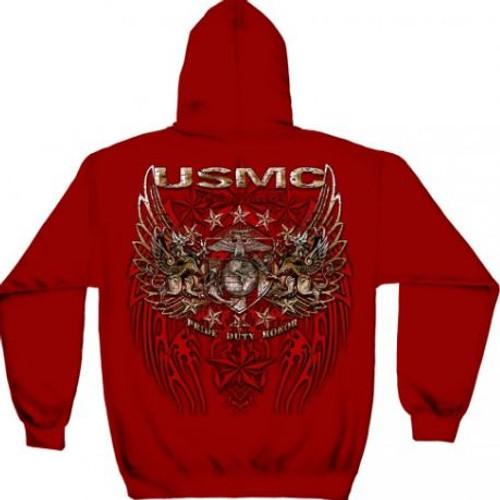 "USMC ""Pride Duty Honor Foil"" Hooded Sweat Shirt"