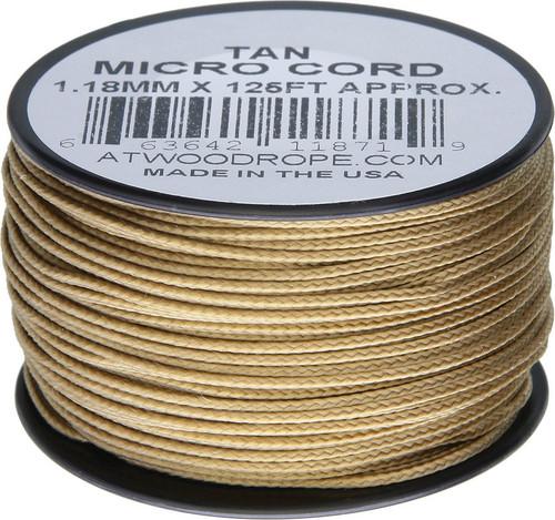 Micro Cord 125ft Tan