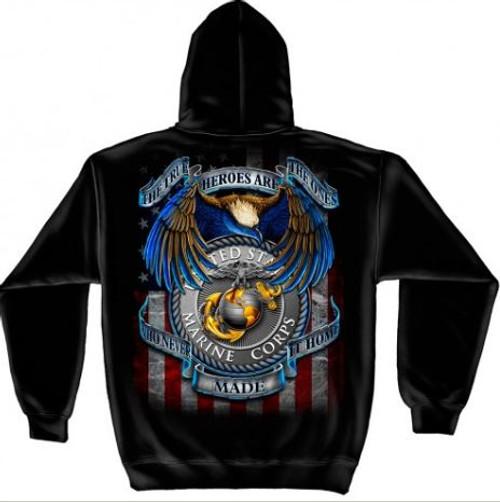 "USMC ""True Heroes"" Hooded Sweat Shirt"