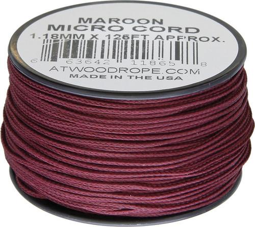 Micro Cord 125ft Maroon
