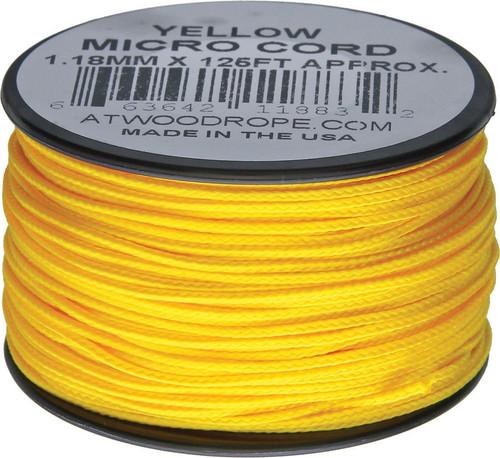 Micro Cord 125ft Yellow