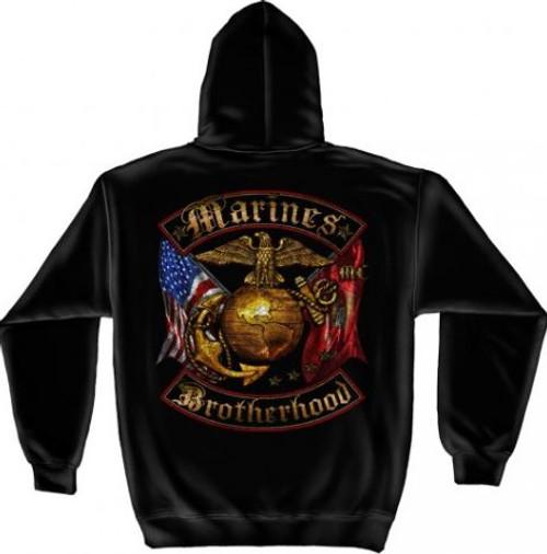 "USMC ""Golden Brotherhood"" Hooded Sweat Shirt"