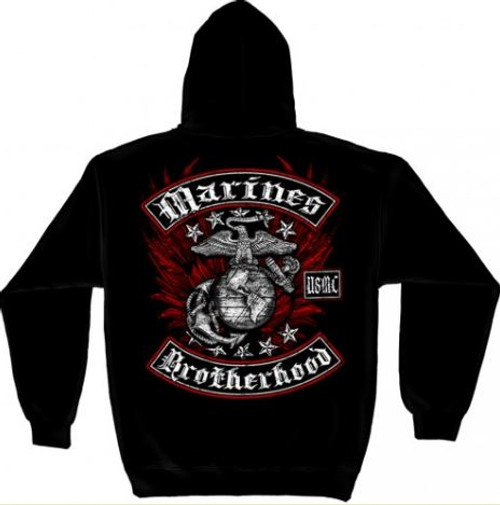 "USMC ""Red Brotherhood"" Hooded Sweat Shirt"