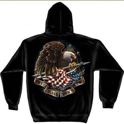 "US Veteran ""These Colors Don't Run"" Hooded Sweat Shirt"