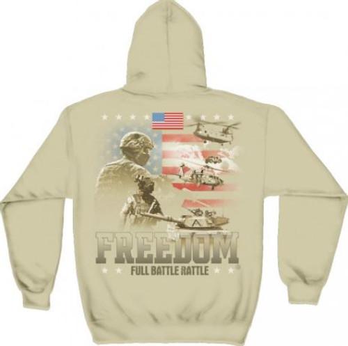 "US Veteran ""Full Battle Rattle"" Hooded Sweat Shirt"