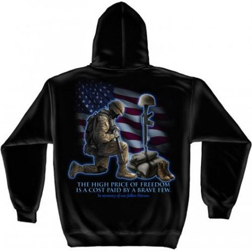 "US Veteran ""In Memory Our Fallen Heroes"" Hooded Sweat Shirt"