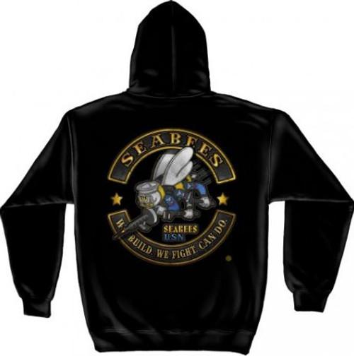 "US Navy ""Sea Bees"" Hooded Sweat Shirt"