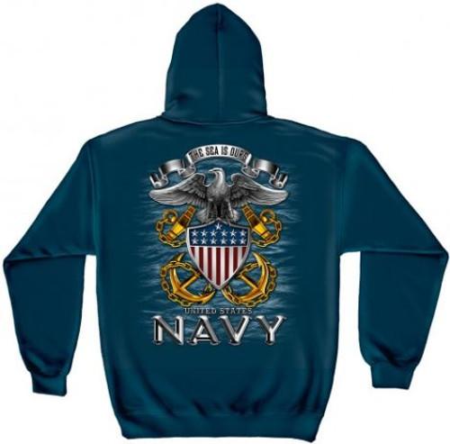 "US Navy ""Full Print Eagle"" Hooded Sweat Shirt"