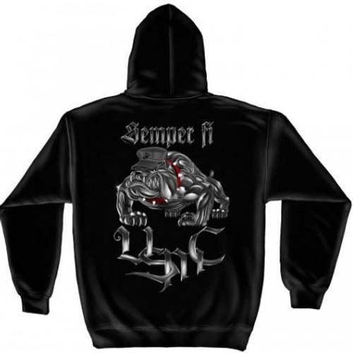 "USMC ""Semper Fi"" Hooded Sweat Shirt"