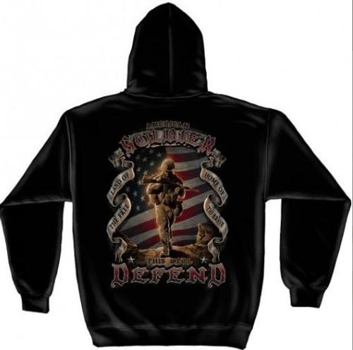 "US Veteran ""This We'll Defend"" Hooded Sweat Shirt"