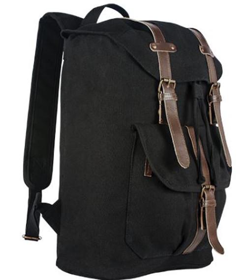 Retro European Style Rucksack Black