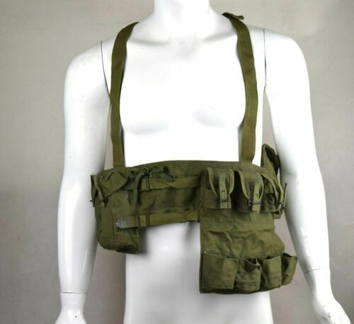 Military Issue Type 63 Chest Rig Bandolier Mag Ammo Pouch