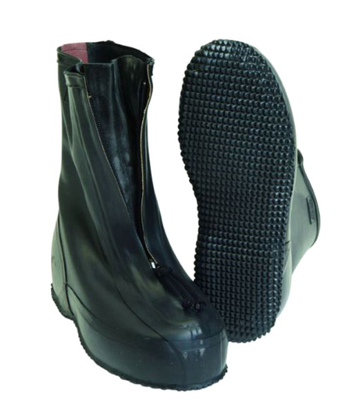 German Black Rubber Overshoes W Zipper