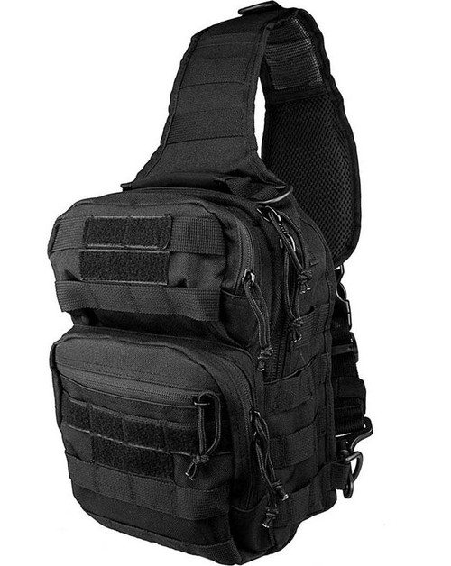 VISM / NcStar Shoulder Sling Utility Bag (Color: Black)