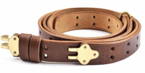 M1907 Leather Rifle Sling Dated 1942 M1 Garand Springfield Drum Dyed Leather