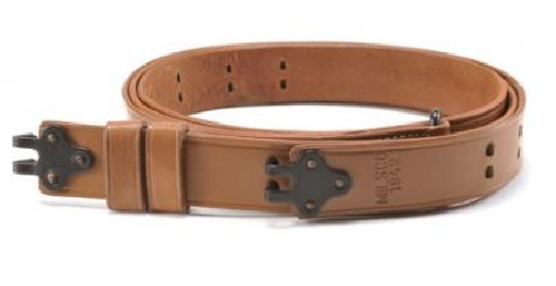 M1907 Military Leather Rifle Sling WWII Marked Steel Hardware Garand Springfield
