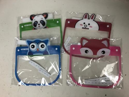 Kids Cartoon Animal Face Shield