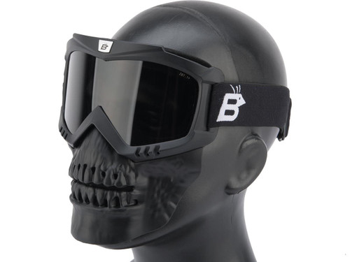 Birdz Eyewear SkullBird Full Face Mask (Color: Black / Smoke)