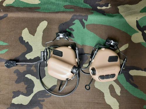 BONEYARD - Earmor M32H MOD3 Tactical Communication Hearing Protector for FAST MT Helmets (Color: Tan)
