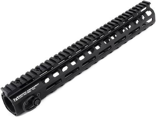 "PTS Griffin Armament Licensed Low Pro RIGID M-LOK Rail for M4/M16 Series Airsoft Rifles (Model: Black / 13.5"")"