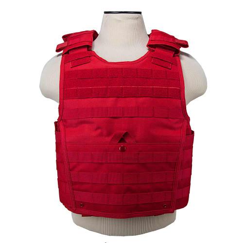VISM Expert Plate Carrier Vest (Color: Red)