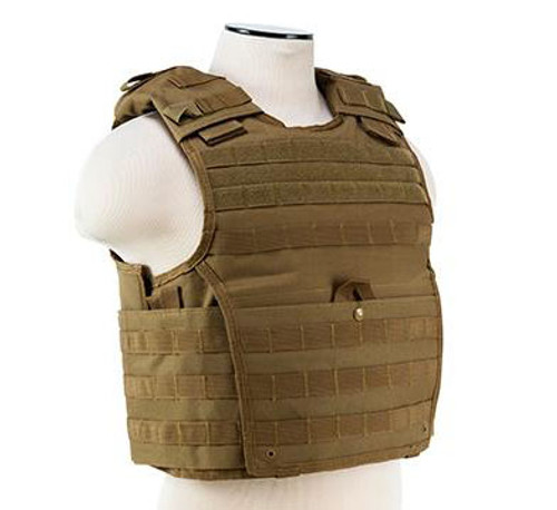 VISM / NcStar Expert Plate Carrier Vest (Color: Tan)