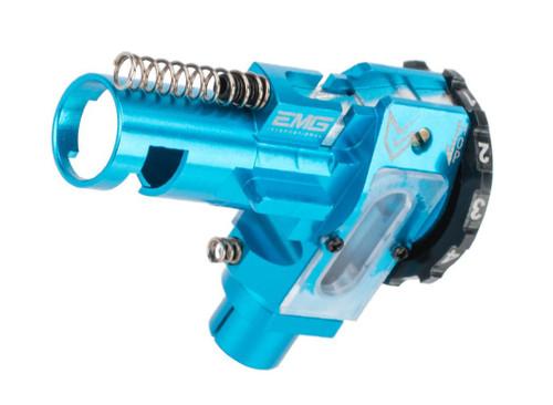 EMG / Maxx Model CNC Aluminum Hopup Chamber for M4 / M16 Series Airsoft AEG Rifles (Model: ME - SPORT / EMG Blue)