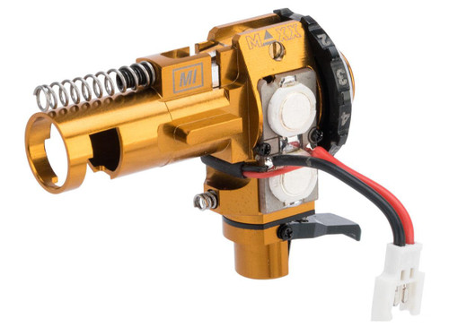 Maxx Model CNC Aluminum Hopup Chamber for M4 / M16 Series Airsoft AEG Rifles (Model: MI - PRO w/ LED)