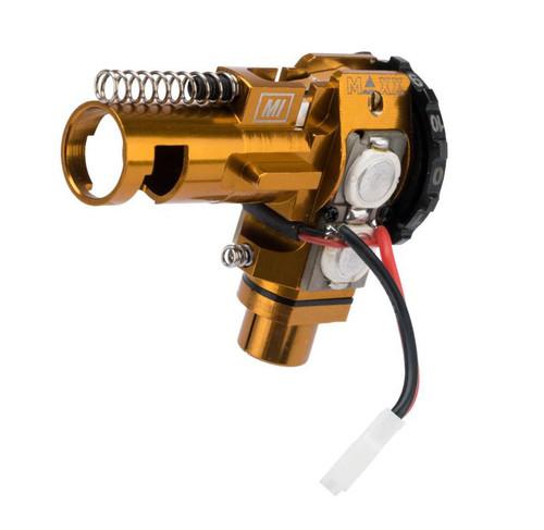 Maxx Model CNC Aluminum Hopup Chamber for M4 / M16 Series Airsoft AEG Rifles (Model: MI - SPORT w/ LED)