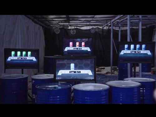 GUNPOWER D400 Digital Four-Screen Monitor Target Displays